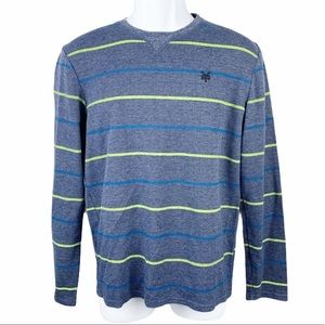 Zoo York Striped Thermal Knit Pullover Sweater